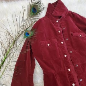 Dresses & Skirts - Red corduroy dress sleeves